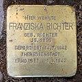 Stolperstein Livländische Str 26 (Wilmd) Franziska Richter.jpg