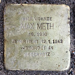 Photo of Max Meth brass plaque