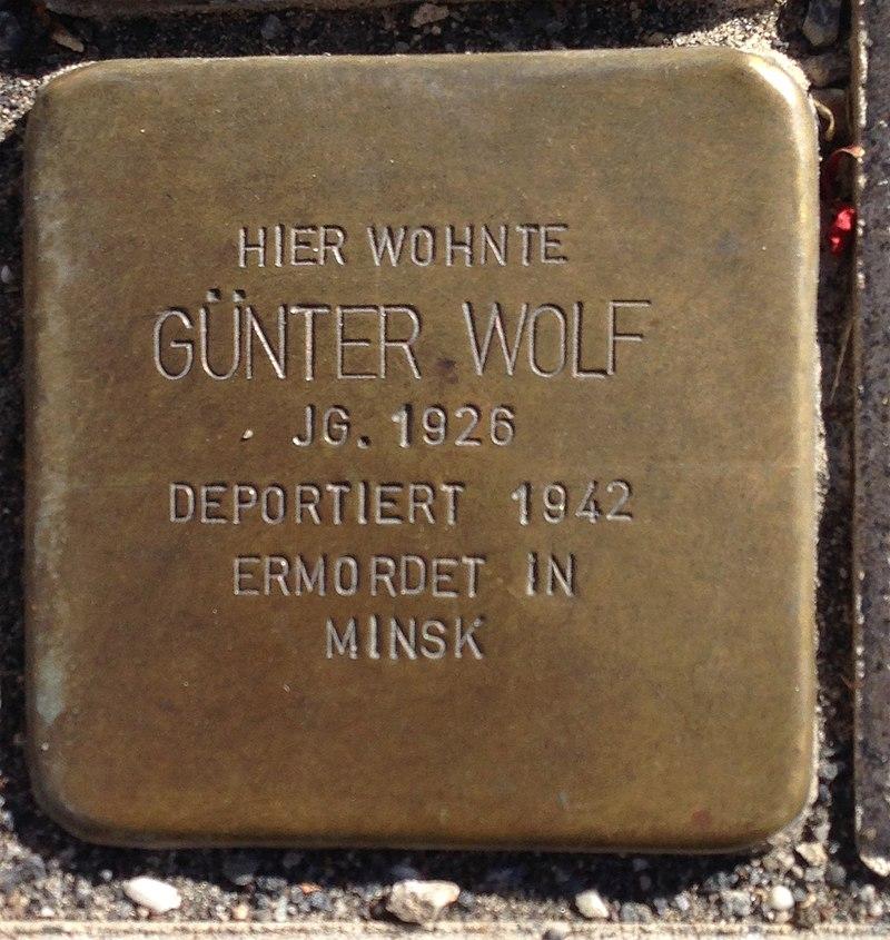 Stolperstein Puderbach Mittelstraße 27 Günter Wolf