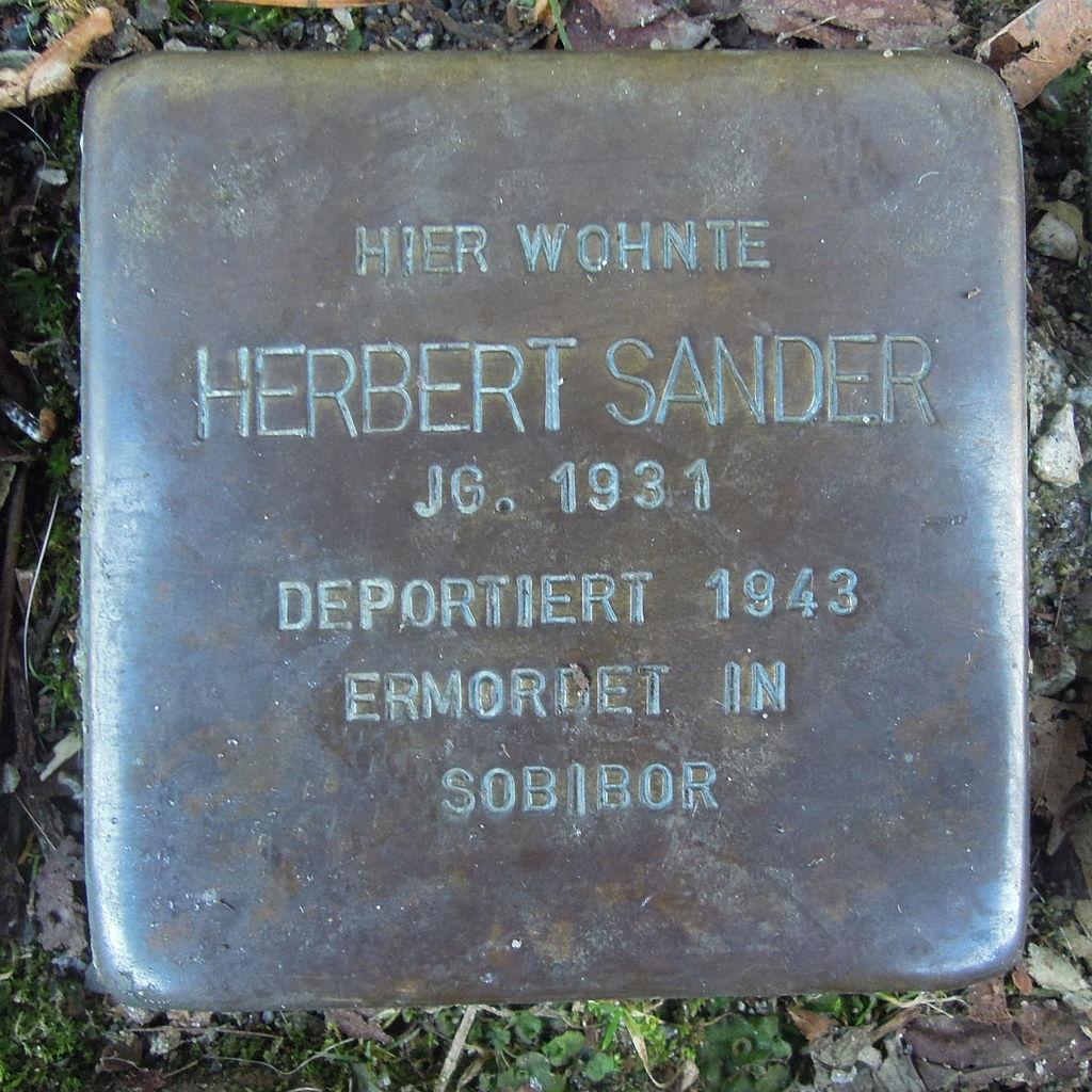 Stolperstein für Herbert Sander