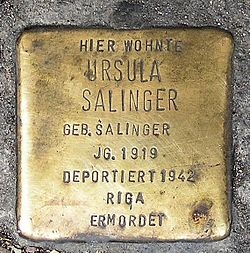 Photo of Ursula Salinger brass plaque