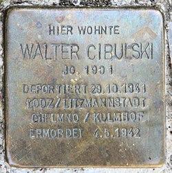 Photo of Walter Cibulski brass plaque