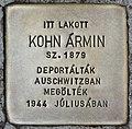 Stolperstein für Armin Kohn (Budapest).jpg