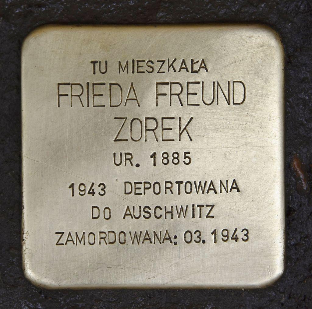 Stolperstein für Frieda Freund Zorek.JPG