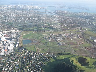 Mount Wellington, New Zealand - Stonefields subdivision and Mount Wellington