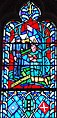 Stonewall Jackson with the flag of the Confederate States in art in a stained glass window of the Washington National Cathedral detail, from- Stonewall Jackson Stain Glass (cropped).JPG