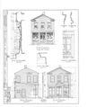 Store Building, 509 Commercial Avenue, Cairo, Alexander County, IL HABS ILL,2-CARO,2- (sheet 1 of 3).png