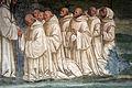 Storie di s. benedetto, 14 sodoma - Come Benedetto pregato dai monaci produce l'acqua dalla cima di un monte 03.JPG