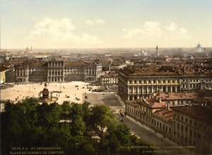 Saint Isaac's Square - View from St. Isaac's Cathedral on Mariinsky Palace, 19th century