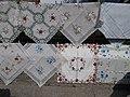 Street stall. Embroidery. - Batthyány street, Tihany.JPG
