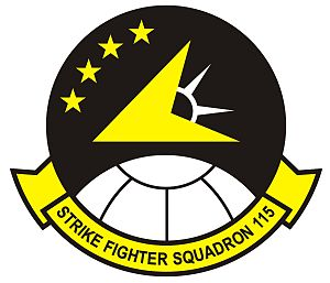 Carrier Air Wing Five - Image: Strike Fighter Squadron 115 (US Navy) emblem