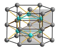 Strukturformel von Eisen(II)-sulfid