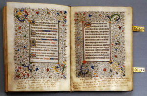Roman Breviary - Mary Stuart's personal breviary, which she took with her to the scaffold, is preserved in the National Library of Russia of St. Petersburg