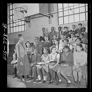 Student governments in the United States - Junior high school student government meeting, 1942