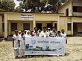 Students with Wikipedia photowalkbanner at Pairabond Rokeya Memorial girls school.jpg