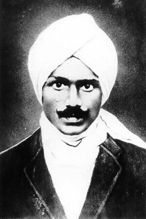 Subramania Bharati - Photograph of Subramanya Bharathi