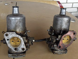 SU Carburettor - A pair of SU carburettors from an MGB