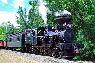 Sumpter Valley Railway - Image: Sumpter Valley Railroad Train (Baker County, Oregon scenic images) (bak DA0073a)