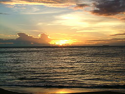 Sunset Padang Beach 2005-11-24