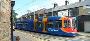 Stagecoach Sheffield - The Sheffield Supertram livery