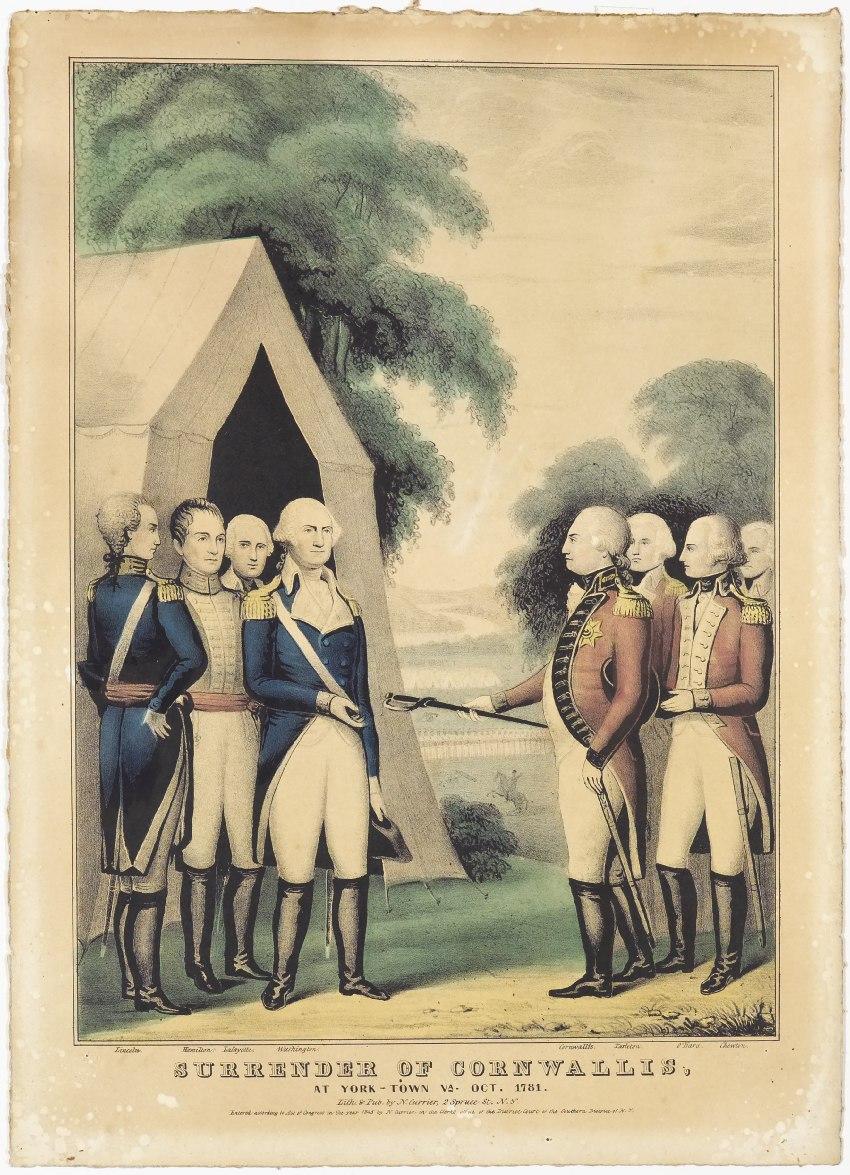 Surrender-of-cornwallis-at-york-town-va-oct-1781-by-nathaniel-currier
