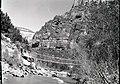 Suspension bridge across Virgin River, West Rim Trailhead rebuilt and relocated in spring of 1953. ; ZION Museum and Archives (162cb10931c642e8877a89f59ec9c813).jpg