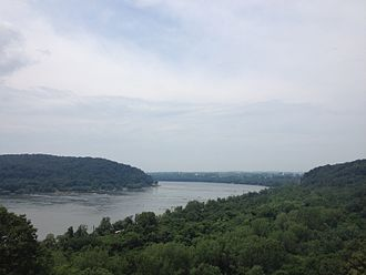 Susquehanna River - Looking north of Columbia, Pennsylvania