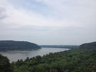 Susquehanna River - Looking north of Columbia, Pennsylvania
