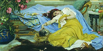 Fulvia und Cicero, künstlerische Interpretation von Paul Alexander Svedomsky (Quelle: Wikimedia)