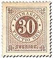 Swedish stamp 1872 30 Öre POST.054061.jpg