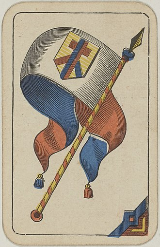 Banner (playing card) - The Banner of Shields from an 1850 Swiss pack