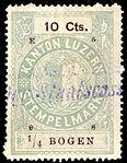 Switzerland Lucerne 1898 revenue 6 10c - 77 - E 5 98.jpg