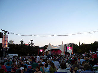 Sydney Festival - Part of the Sydney Festival, Symphony in the Domain, pictured in 2007