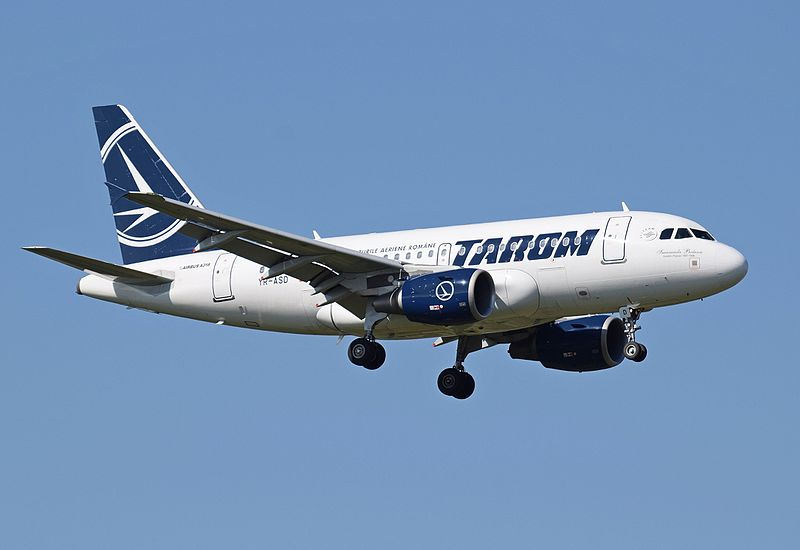 Файл:TAROM A318-100 (YR-ASD) arrives London Heathrow 15Sep2015 arp.jpg