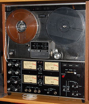Multitrack recording - The TEAC 2340, a popular early (1973) home multitrack recorder, four tracks on ¼ inch tape.