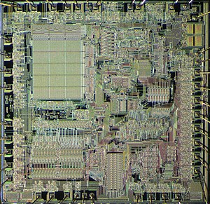 Texas Instruments TMS9900 - Image: TI TMS9981 die