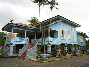 "Rumah limas - Malaysian ""limas house:, a similar term for a different type of house, is more influenced with the colonial Dutch house found in Riau."