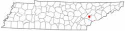 Location of Friendsville, Tennessee