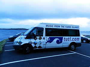 Tutl - The Tutl bus in Sumba, Faroe Islands in 2013, transporting instruments for a jazz concert.