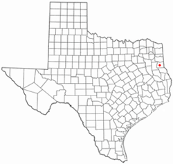 Location of Carthage, Texas
