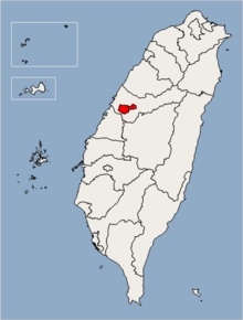 Location of Taichung City