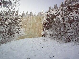 Posio - Ice wall at Korouoma