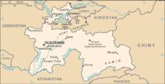 Mapa Tadżykistanu