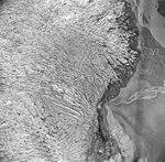 Taku Glacier, tidewater glacier terminus, September 1, 1970 (GLACIERS 6186).jpg