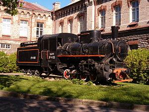 Narrow-gauge railways in Estonia - Narrow-gauge steam engine Kc4-100 in Tallinn