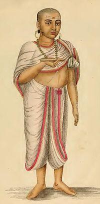 Член касты жрецов в индии