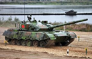 Type 96 tank - Chinese Type 96A MBT at Tank Biathlon 2014.
