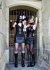 Tapegag (Bondage) 2 girls in rubber-leather (6824).jpg