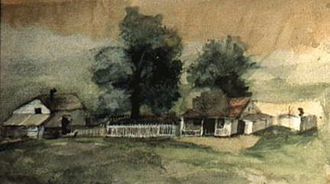 Tappan Adney - Watercolor, painted for the entrance examination for the Art Students League 1883