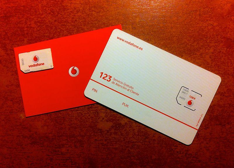 File:Tarjeta SIM y Micro SIM de Vodadone.jpg